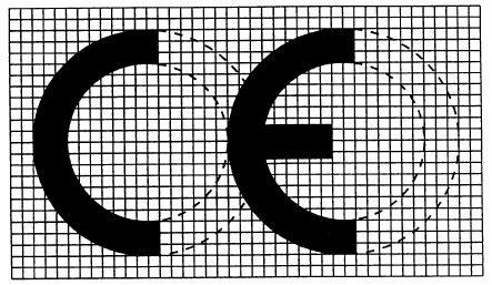 CE认证标志标准尺寸